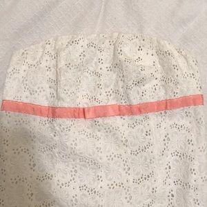Lilly Pulitzer White Dress w. Pink Ribbon / Bow 🎀